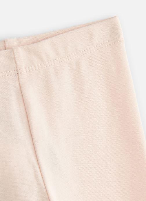 Vêtements Bout'Chou Legging uni bio Rose vue portées chaussures