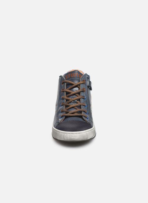 Baskets Stones and Bones Slido Bleu vue portées chaussures