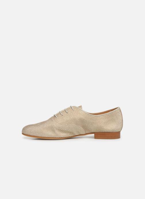 Lace-up shoes Monoprix Femme Derby Python irisée Bronze and Gold front view