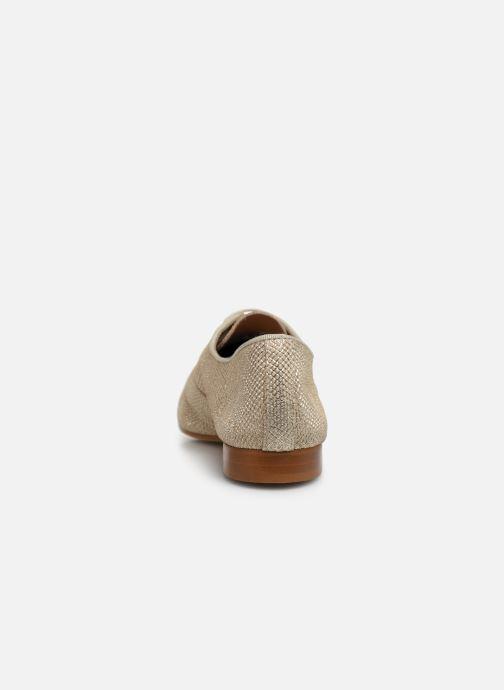 Zapatos con cordones Monoprix Femme Derby Python irisée Oro y bronce vista lateral derecha