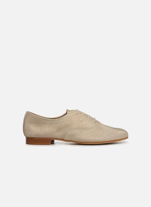 Chaussures à lacets Monoprix Femme Derby Python irisée Or et bronze vue derrière