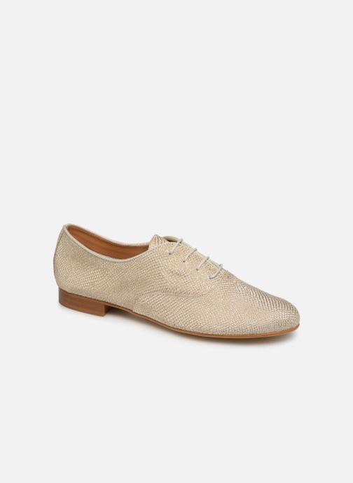 Chaussures à lacets Monoprix Femme Derby Python irisée Or et bronze vue détail/paire