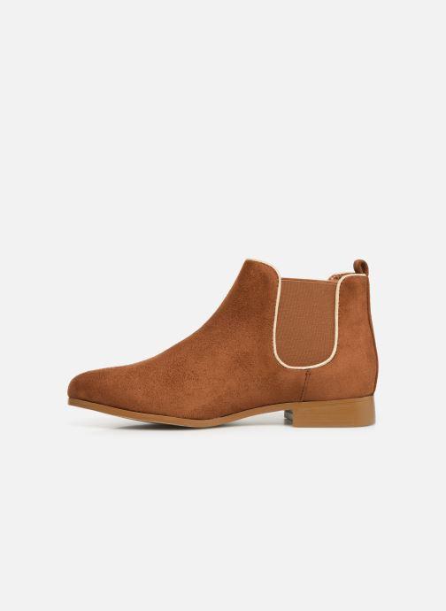 Ankle boots Monoprix Femme Boots Aris Brown front view