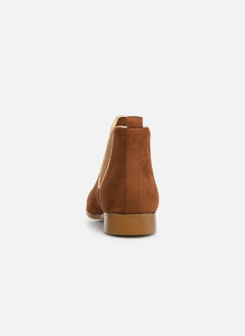 Ankle boots Monoprix Femme Boots Aris Brown view from the right