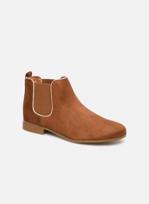 Ankle boots Monoprix Femme Boots Aris Brown detailed view/ Pair view