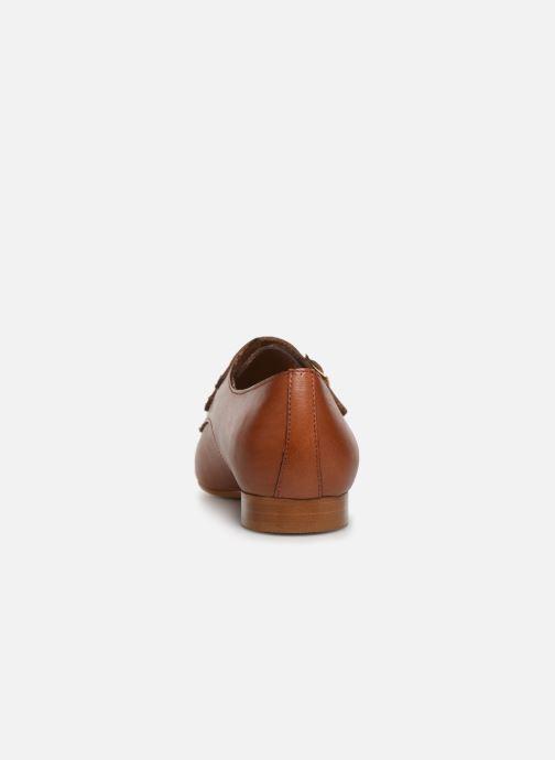 Mocassins Monoprix Femme Chaussure femme boucle cuir Marron vue droite