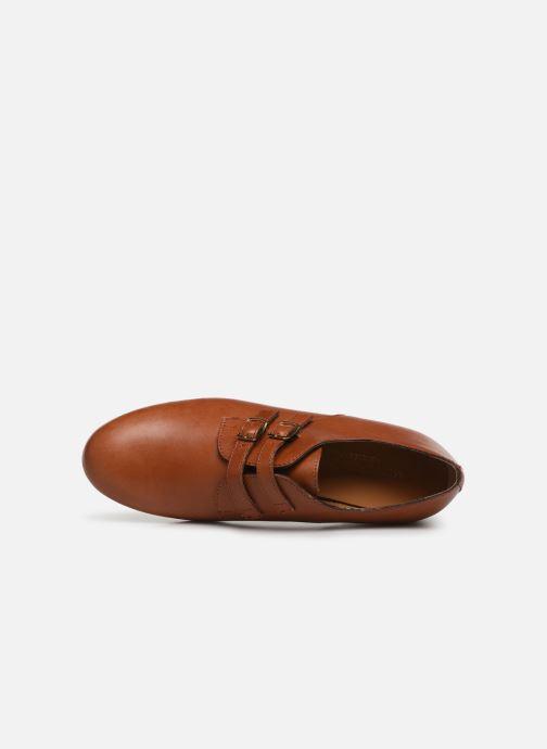Mocassins Monoprix Femme Chaussure femme boucle cuir Marron vue gauche