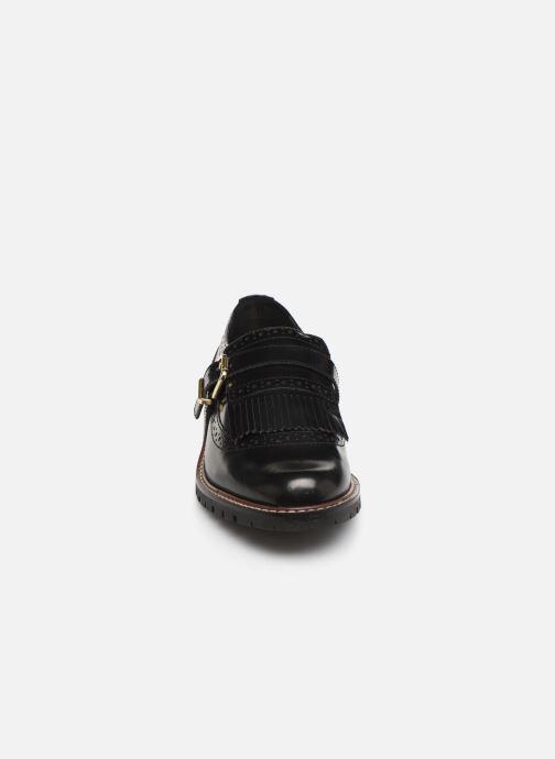 Chaussures à lacets Monoprix Femme Derby franges Noir vue portées chaussures