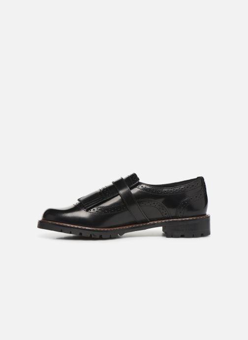 Lace-up shoes Monoprix Femme Derby franges Black front view