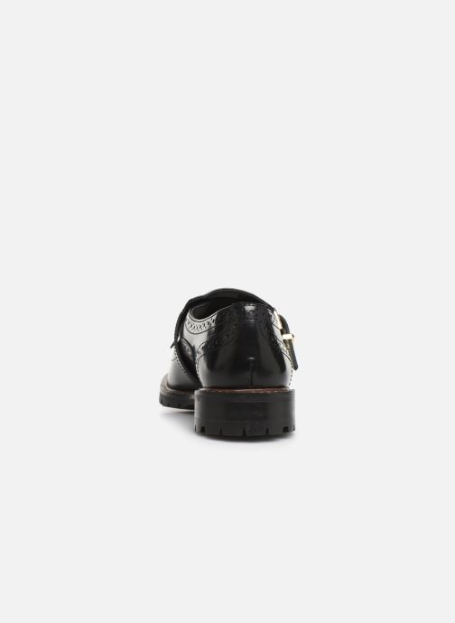 Zapatos con cordones Monoprix Femme Derby franges Negro vista lateral derecha