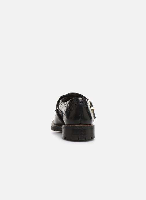 Chaussures à lacets Monoprix Femme Derby franges Noir vue droite