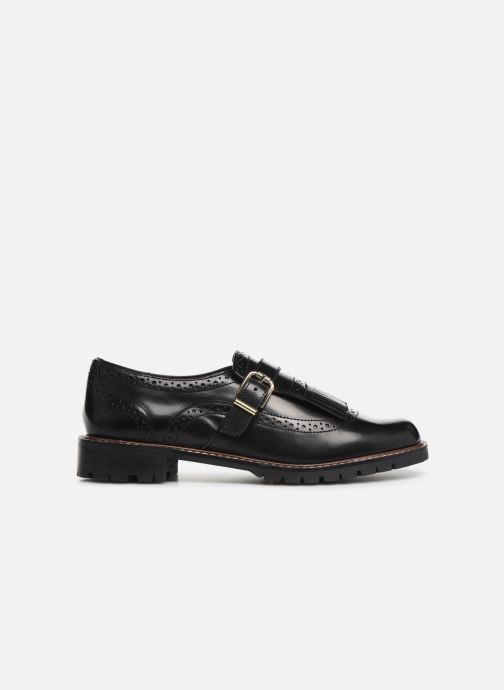 Lace-up shoes Monoprix Femme Derby franges Black back view