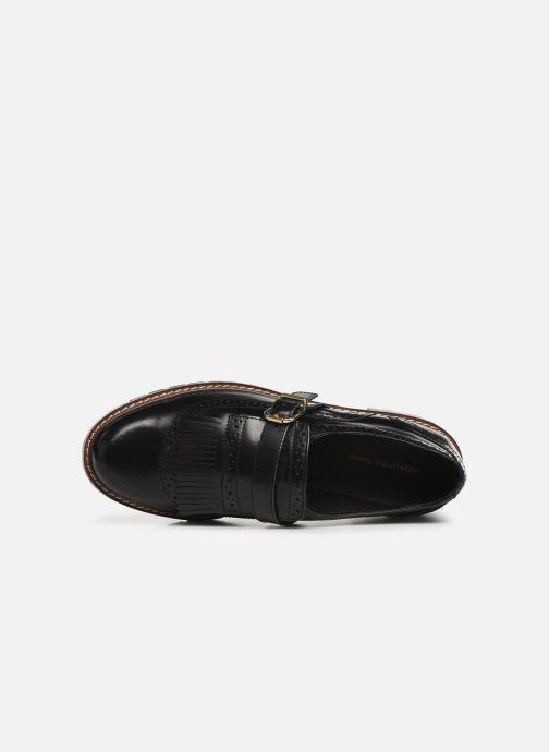 Chaussures à lacets Monoprix Femme Derby franges Noir vue gauche