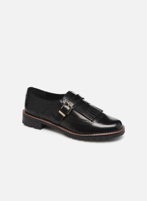 Chaussures à lacets Monoprix Femme Derby franges Noir vue détail/paire