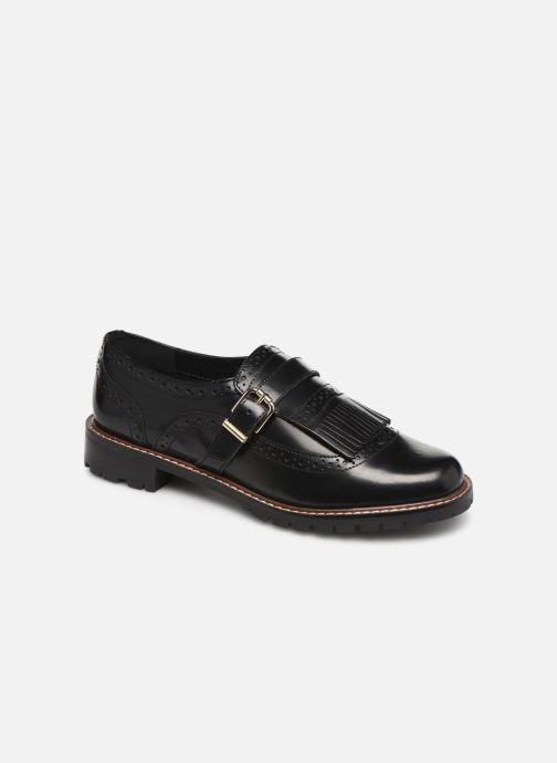 Lace-up shoes Monoprix Femme Derby franges Black detailed view/ Pair view