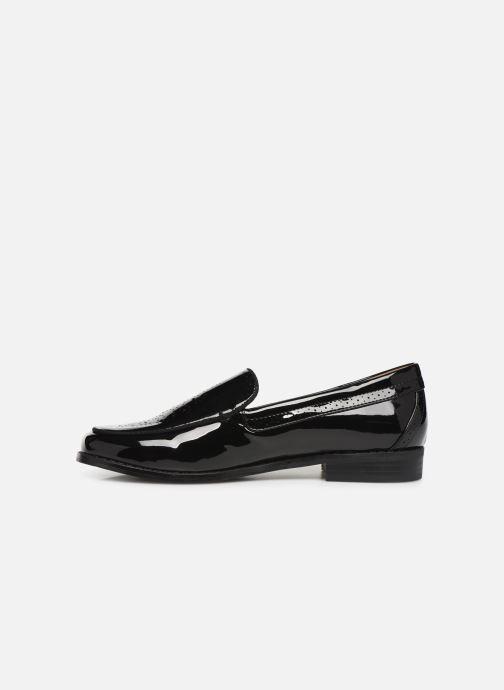 Loafers Monoprix Femme Mocassin verni Black front view