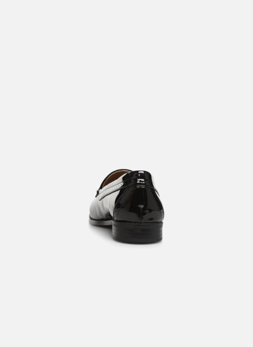 Loafers Monoprix Femme Mocassin verni Black view from the right
