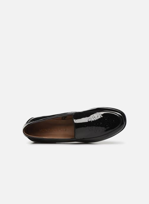 Loafers Monoprix Femme Mocassin verni Black view from the left