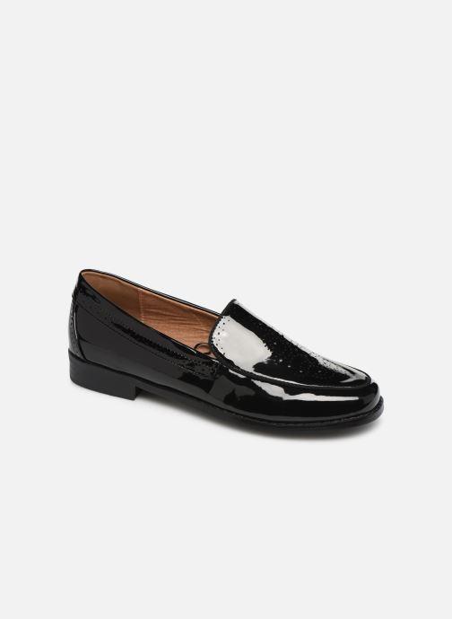 Loafers Monoprix Femme Mocassin verni Black detailed view/ Pair view