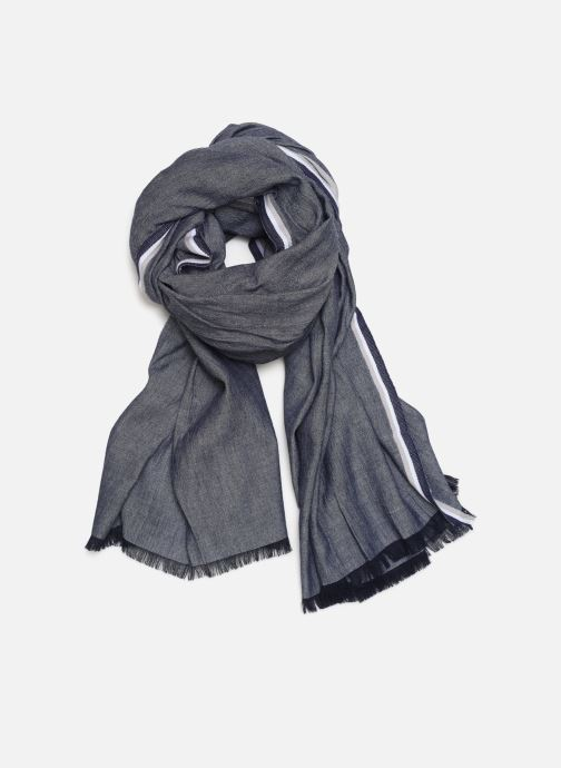 Sjaal Monoprix Femme Chèche Chambray Blauw detail