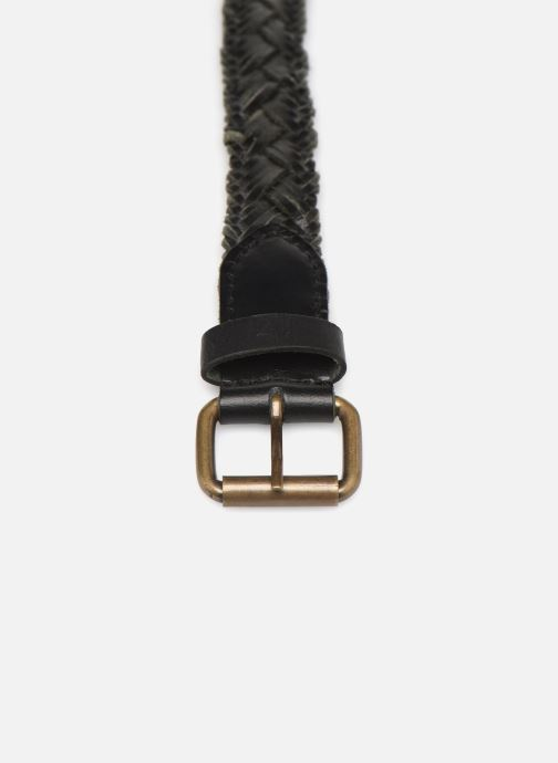 Cinturones Monoprix Femme Ceinture cuir tréssée Negro vista del modelo