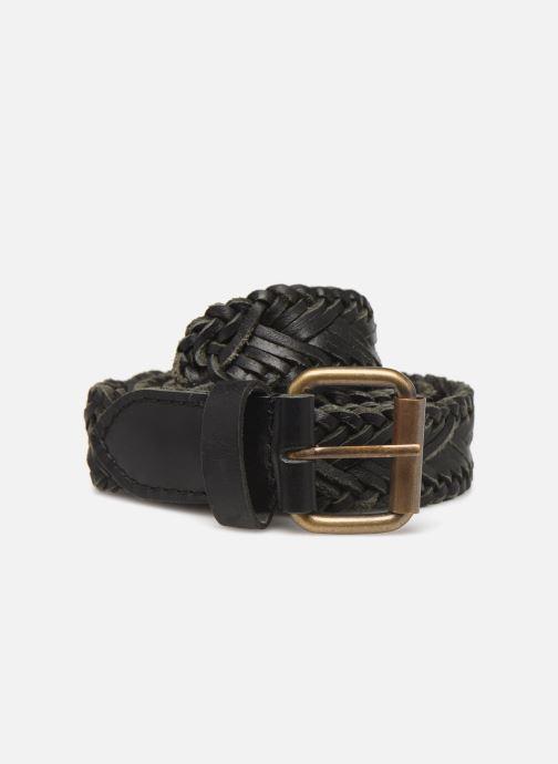 Belts Monoprix Femme Ceinture cuir tréssée Black detailed view/ Pair view