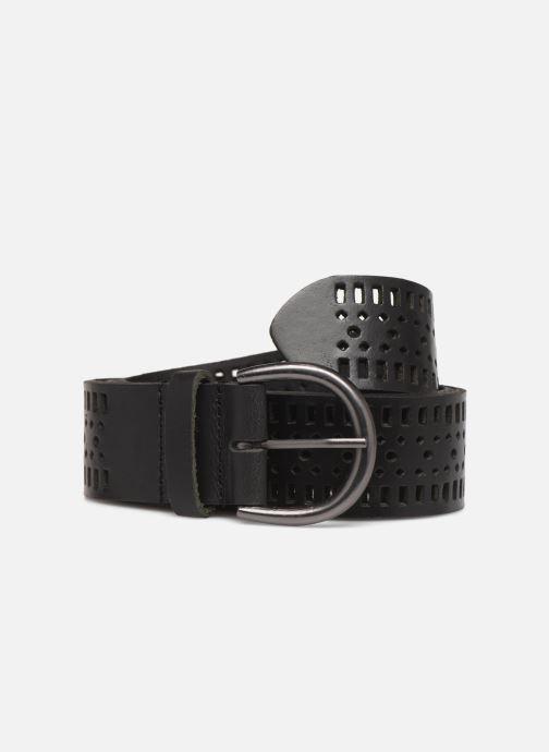 Belts Monoprix Femme Ceinture cuir perf Black detailed view/ Pair view
