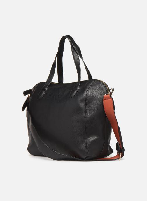 Handtaschen Monoprix Femme Sac ville 12H schwarz ansicht von rechts