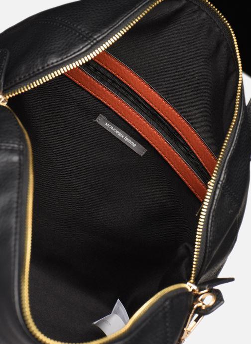 Handtaschen Monoprix Femme Sac ville 12H schwarz ansicht von hinten