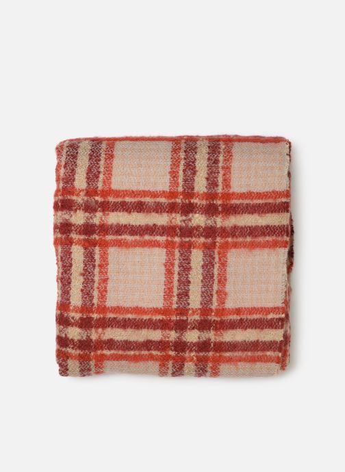 Sciarpa y foulard Monoprix Femme Foulard carreaux ary Rosso modello indossato