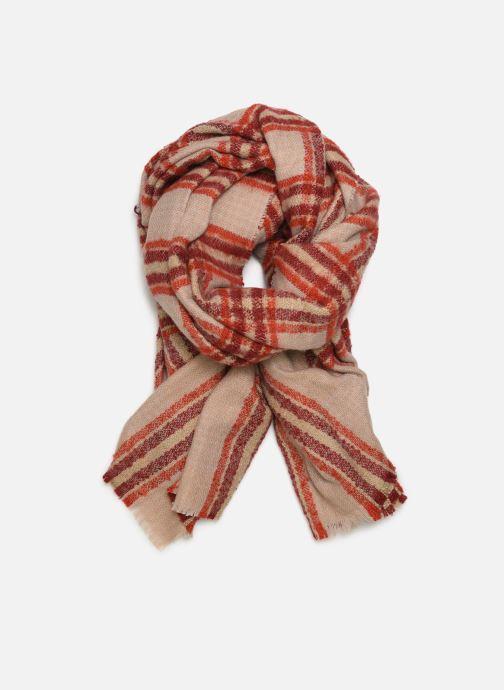 Sjaal Monoprix Femme Foulard carreaux ary Rood detail