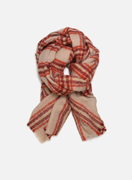 Scarf Monoprix Femme Foulard carreaux ary Red detailed view/ Pair view