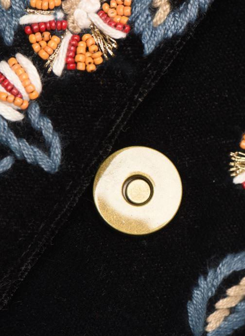 Handbags Monoprix Femme Sac ville brodé fleurs Black view from the left