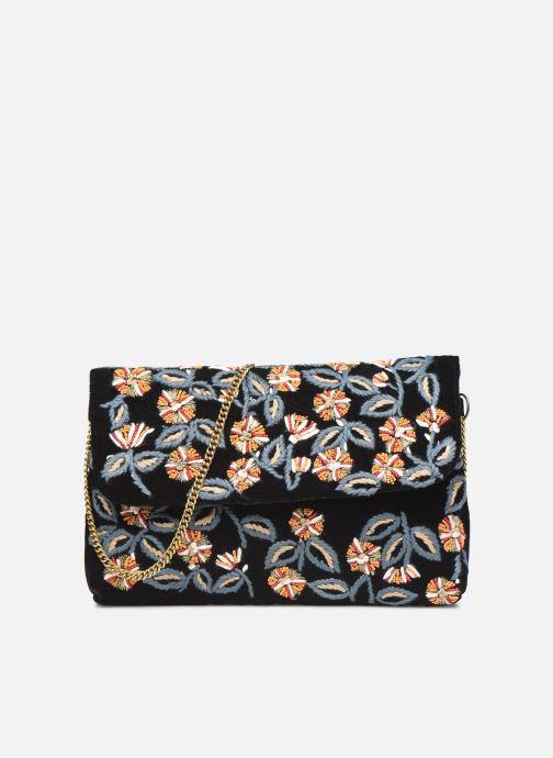 Handbags Monoprix Femme Sac ville brodé fleurs Black detailed view/ Pair view