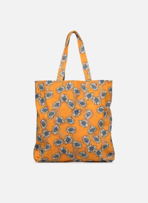 Sacs à main Monoprix Femme Tote bag coton fleurs Jaune vue face