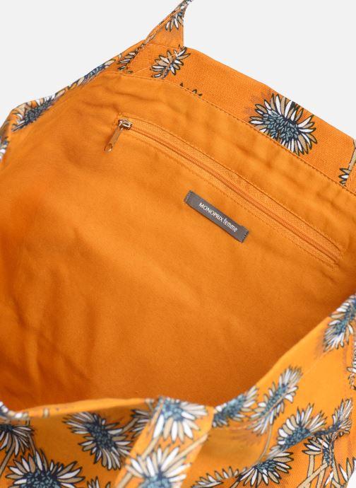 Sacs à main Monoprix Femme Tote bag coton fleurs Jaune vue derrière