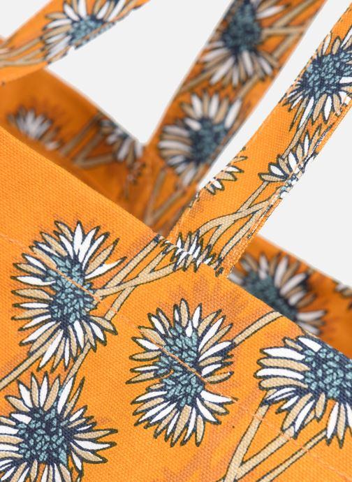 Handtaschen Monoprix Femme Tote bag coton fleurs gelb ansicht von links