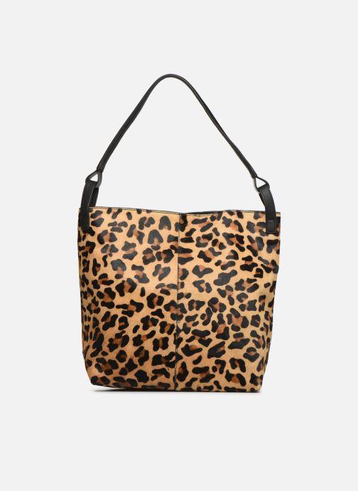 Sacs à main Monoprix Femme Cabas Leopard Aris Marron vue face