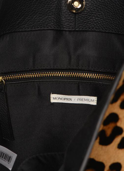 Sacs à main Monoprix Femme Cabas Leopard Aris Marron vue derrière