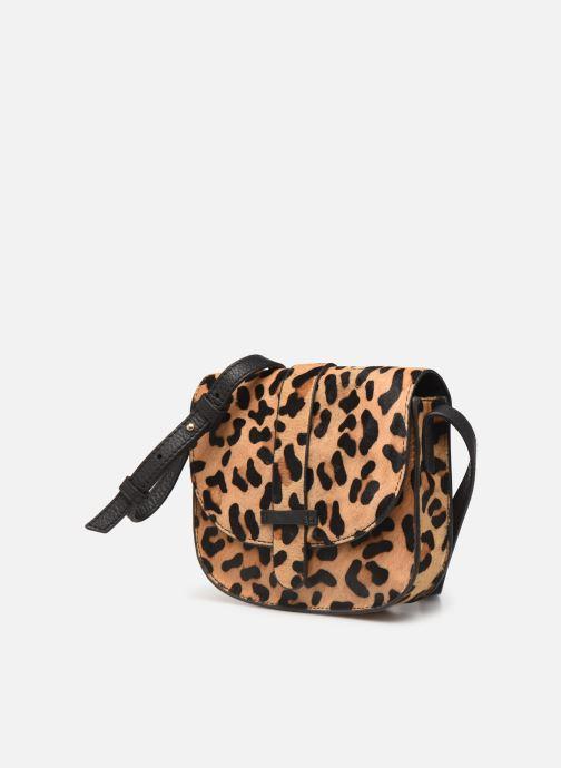 Sacs à main Monoprix Femme Sac ville Leopard Marron vue portées chaussures