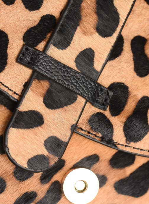 Sacs à main Monoprix Femme Sac ville Leopard Marron vue gauche