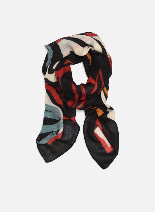 Sjaal Monoprix Femme Foulard carré laine fleurs Multicolor detail