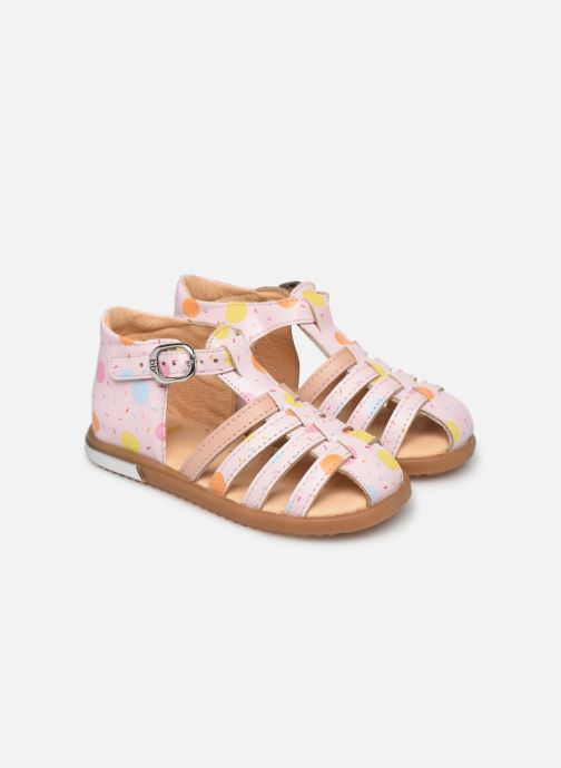 Sandals Babybotte Tropikanasan x SARENZA Pink detailed view/ Pair view