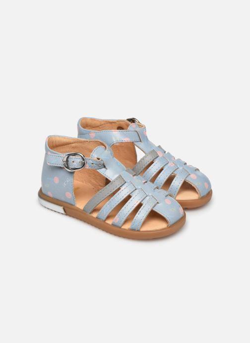 Sandales et nu-pieds Babybotte Tropikanasan x SARENZA Bleu vue détail/paire