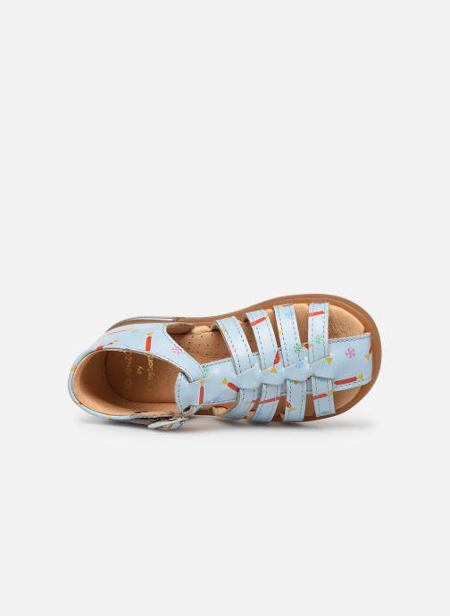 Sandalen Babybotte Tropikanasan x SARENZA Blauw links