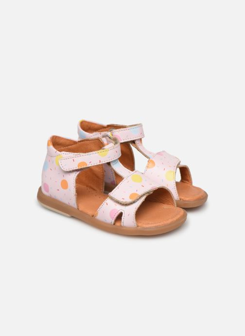 Sandals Babybotte Tenessan x SARENZA Pink detailed view/ Pair view