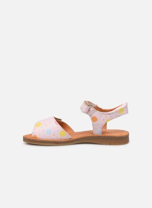 Sandales et nu-pieds Babybotte Kokotiersan x SARENZA Rose vue face