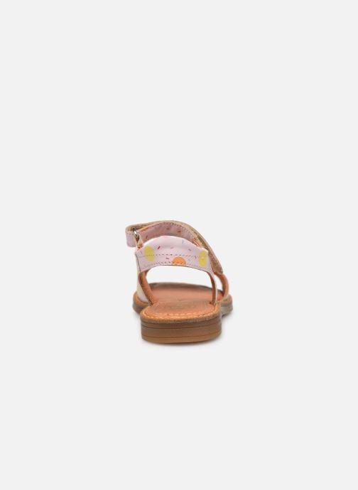 Sandali e scarpe aperte Babybotte Kokotiersan x SARENZA Rosa immagine destra