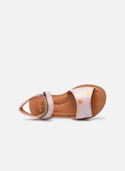 Sandales et nu-pieds Babybotte Kokotiersan x SARENZA Rose vue gauche