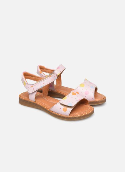 Sandales et nu-pieds Babybotte Kokotiersan x SARENZA Rose vue détail/paire